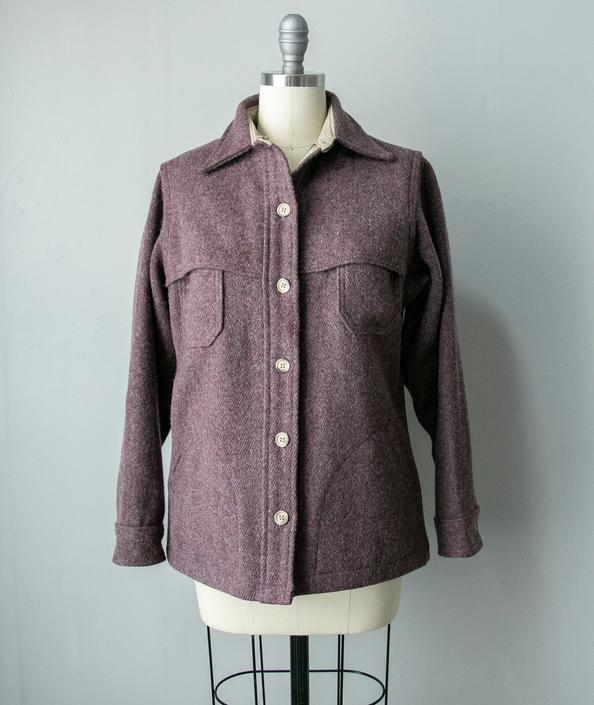 1980s Ladies Woolwich Shirt Wool M by dejavintageboutique