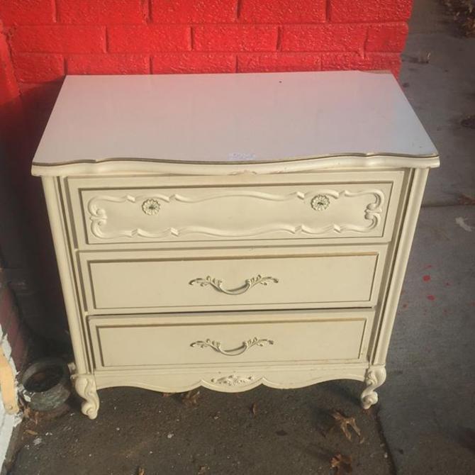 Petite French provincial dresser. $50
