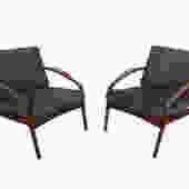 Teak Lounge Chairs Danish Modern Kai Kristiansen Paper Knife Style by HearthsideHome