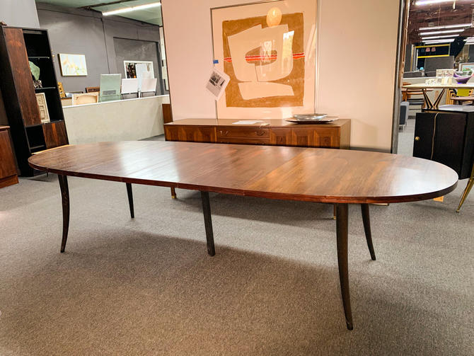 Harvey probber sable leg rosewood table
