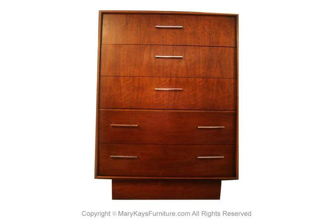 Vintage Mid Century Lane Tallboy Highboy Dresser by Marykaysfurniture