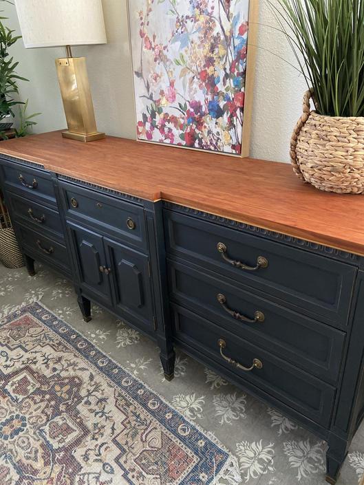 Vintage Dresser Credenza Entry Table By, Vintage Furniture San Antonio