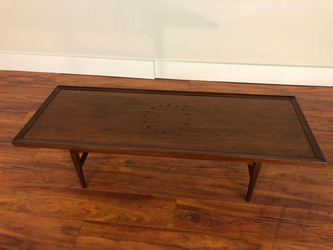 Drexel Declaration Rectangular Walnut Coffee Table by Vintagefurnitureetc