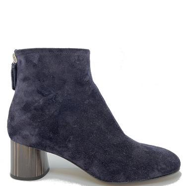 contrast heel suede boot