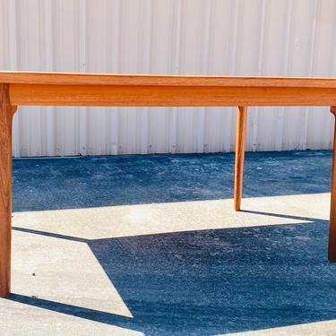 Mid Century Teak draw Leaf Dining Table in the Style of  Johannes Andersen for Uldum Møbelfabrik by VivaLaVintagedotTX