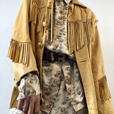 Cowboy 70's Fringe Leather Jacket by VintageRosemond