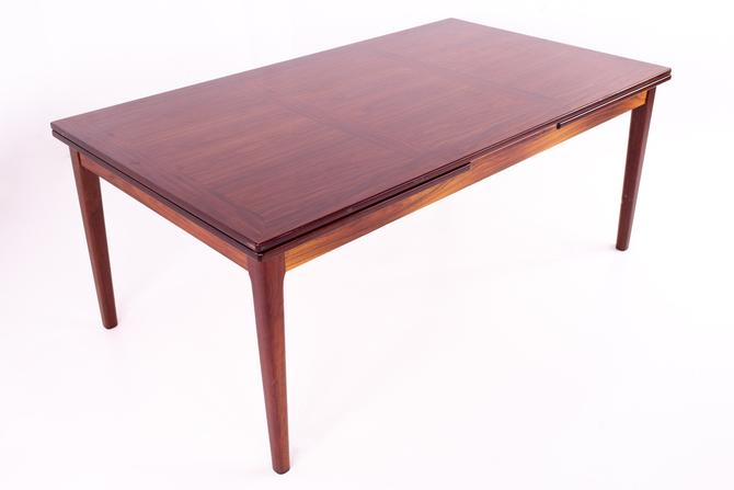Skovby Rosewood Mid Century Hidden Leaf 12 Person Dining Table - mcm by ModernHill