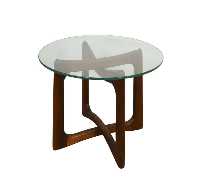 Adrian Pearsall  Table Glass Top Side Table Craft Associates Model 2460 T24 Table Mid Century Modern by HearthsideHome