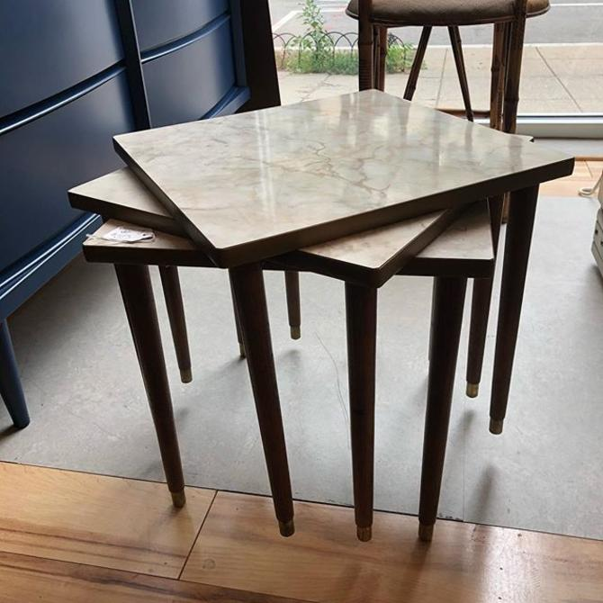 Set of 3 stacking mcm tables $65!