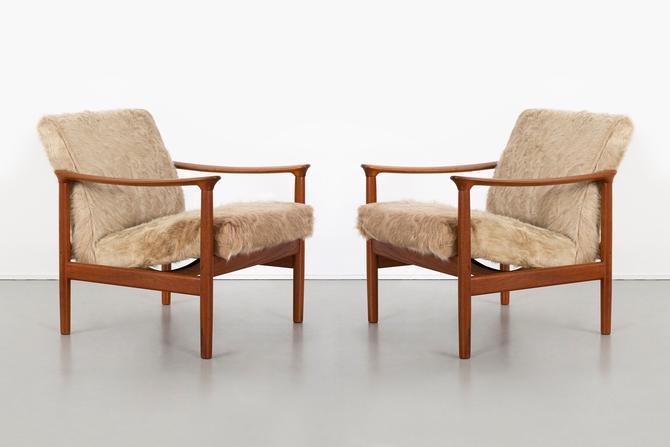 Set of Mid-Century Modern Westnofa Lounge Chairs in Brazilian Cowhide by MatthewRachman