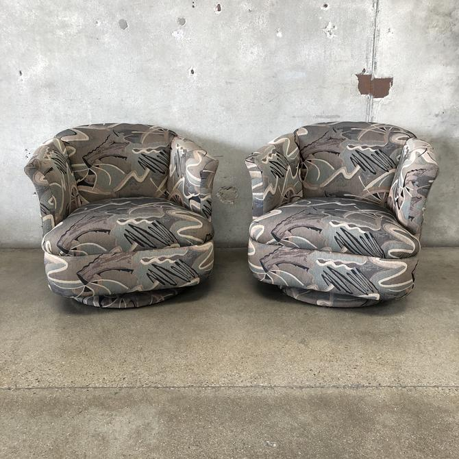 Pair of Vintage Swivel & Rocking Chairs