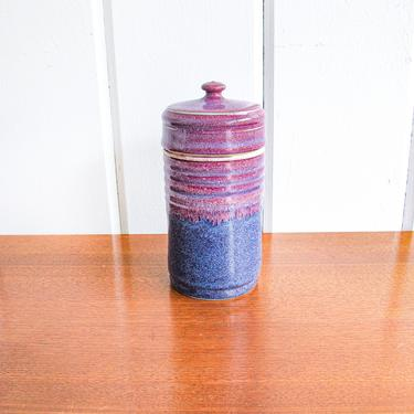 Hand Spun Vintage Ceramic Container with Lid - Stamped by PortlandRevibe