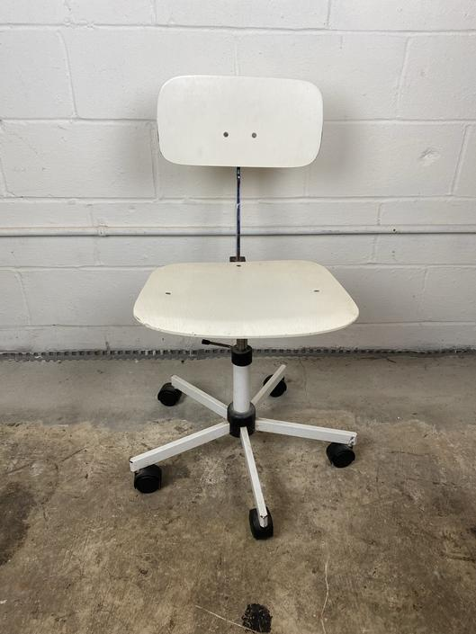 Mid Century Adjustable Office Chair, on casters