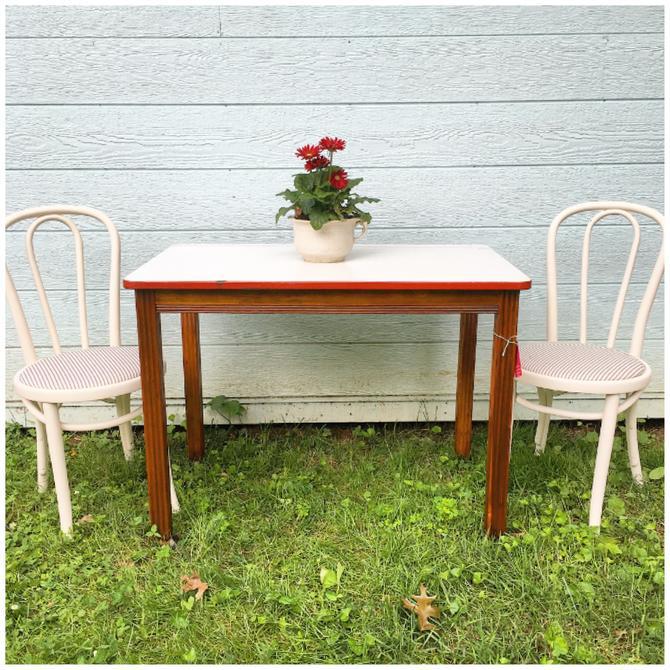 Vintage Enamel Top Kitchen Table