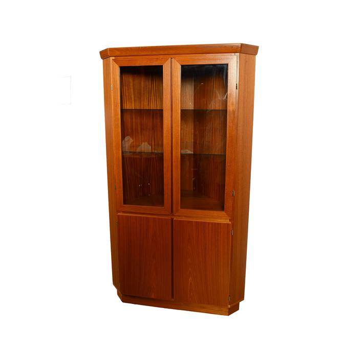 Teak Corner Cabinet Skovby Danish Modern Display Case by HearthsideHome