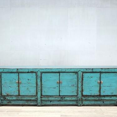 Chinese Low Cabinet with Restoration