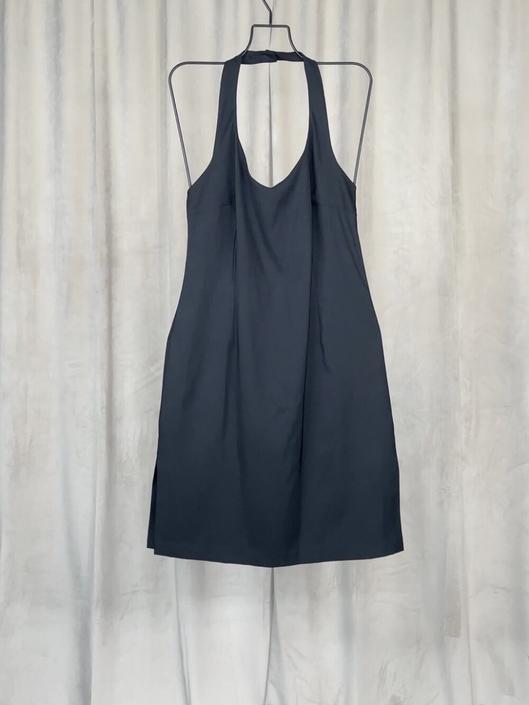 Vintage Black Halter Dress