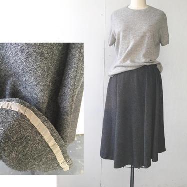 Dark grey wool skirt, half Circle Skirt, A-line Skirt, Charcoal grey skirt, skirt with pocket, Below knee skirt, Vintage skirt, winter skirt by vaniageneralstore