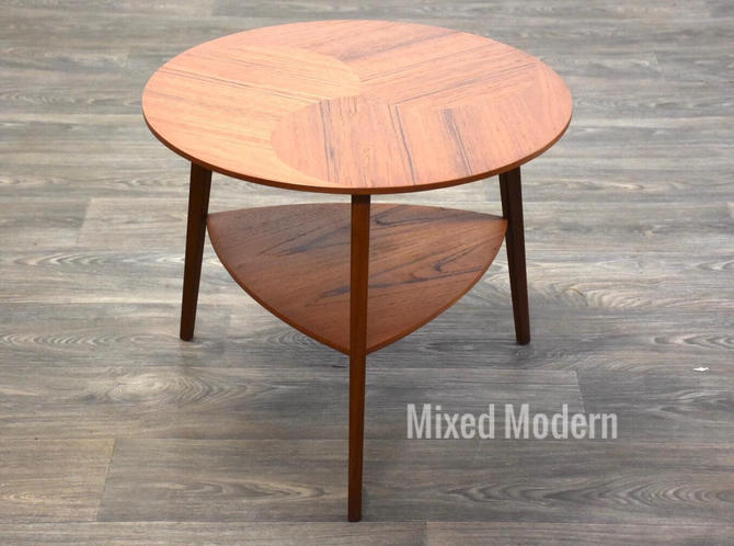 Teak Round Occasional Table by mixedmodern1