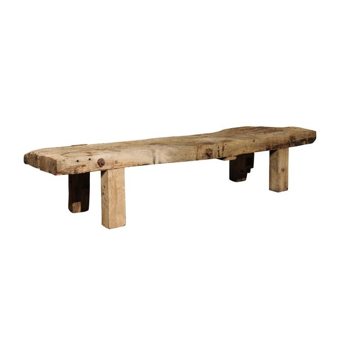French 19th C Chopping Block Coffee Table
