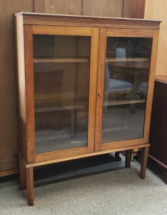 Item #R271 Early 20th Century English Oak Bookcase c.1910