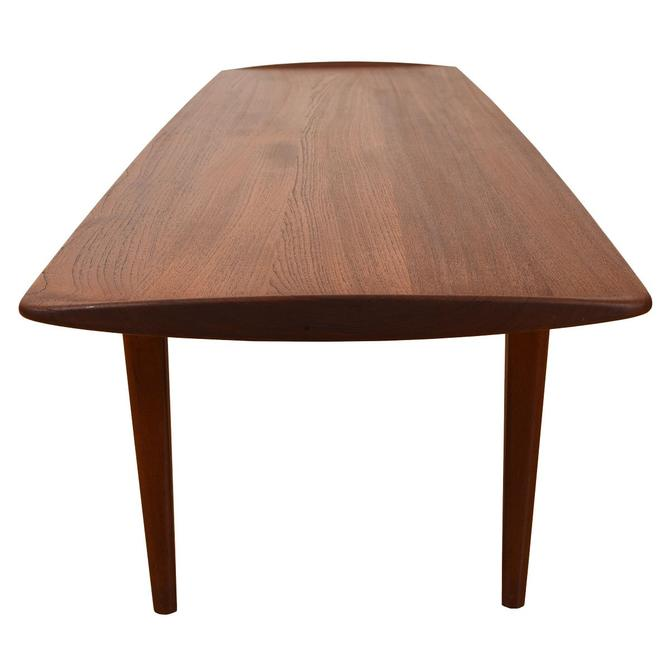 John Stuart Danish Teak Surfboard Coffee Table w/ Raised Lip-Edges