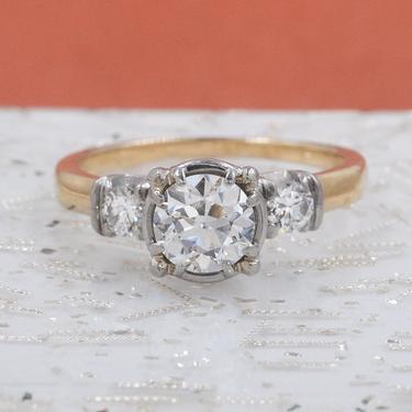 .80 Carat Diamond Two-tone Ring c1930