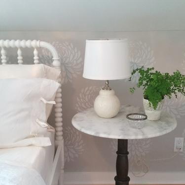 Etsy lamp. Small ceramic bedside table lamp. Contemporary pottery lamp. Modern home decor. Custom color options. Kri Kri Studio Seattle by krikriceramics