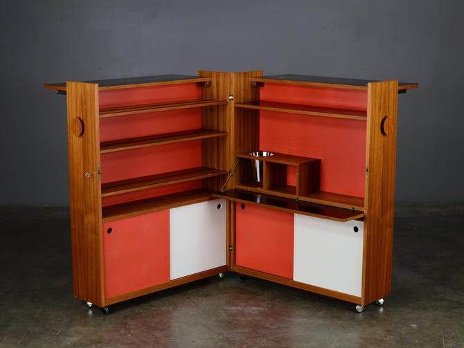 Vintage Dry Bar Cabinet Mid Century Danish Teak by MadsenModern