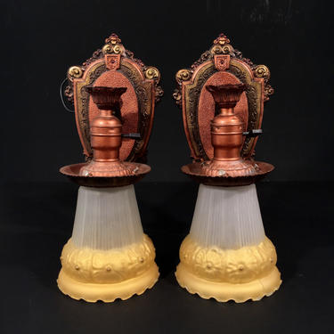 Pair of 1920s Riddle Co. Sconces