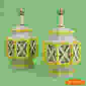 Pair of Fretwork Ginger Lamps