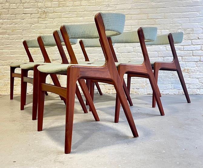 "Iconic Mid Century Modern Danish Teak ""FIRE"" Dining Chairs by Kai Kristiansen, Set of Six by CIRCA60"