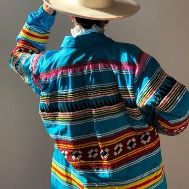 Vintage Rare Seminole Tribe Patchwork Jacket   Florida Seminole Handmade Patchwork Jacket by ShopLaTierra