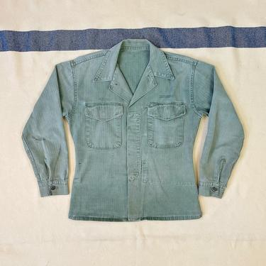 Size XS/S Vintage 1950s P-53 US Marines HBT Utility Shirt with Map Pocket by BriarVintage