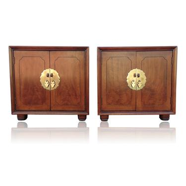 Pan Asian Collection Chinoiserie Two Door Cabinet Nightstands by Henredon by VeronaVintageHome