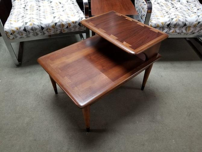Mid-Century Modern step table from the Acclaim collection by Lane