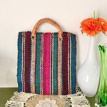 Jute Sisal Bag, Tote, Shopper, Handbag Purse, Vintage Hippie Boho by GabAboutVintage