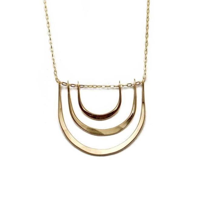 Triple Arc Necklace