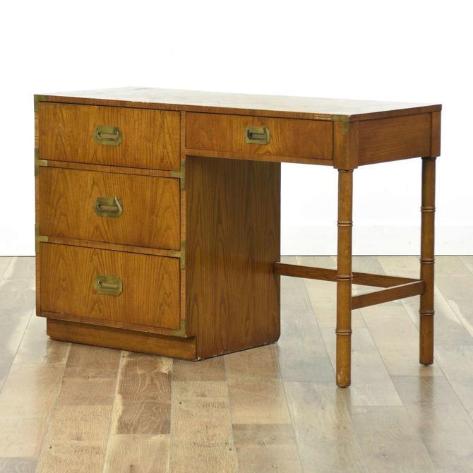 Dixie Campaigner Vintage Keyhole Desk