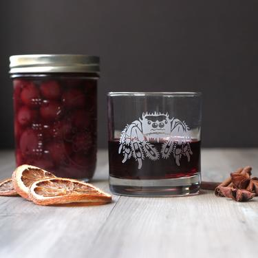 Spider Glass - lowball DOF tumbler for cocktails, whiskey, wine, or juice by BreadandBadger