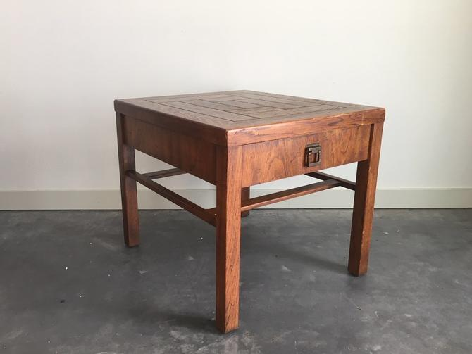 vintage Drexel Woodbriar side table.