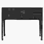 Chinese Oriental Rustic Black Lacquer Drawers Side Table cs5159S