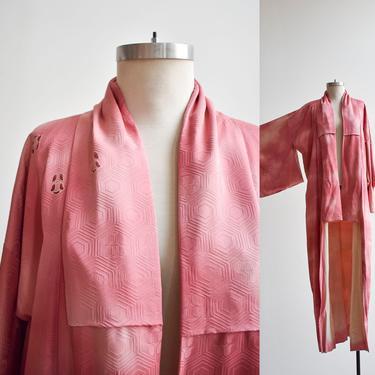 Vintage Long Pink Japanese Kimono by milkandice