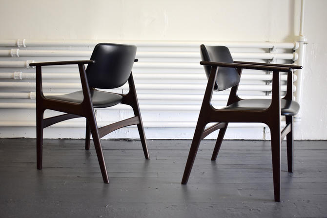 Pair of Rosewood Mid Century Modern ARMCHAIRS by CIRCA60