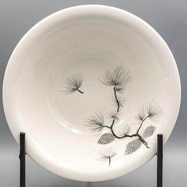 Serving Bowl, Harker Pinecone Round | Vintage Mid Century Modern Dinnerware Harkerware by MostlyMidCenturySF