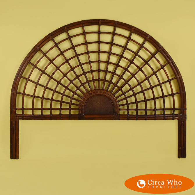 Starburst Rattan King Headboard