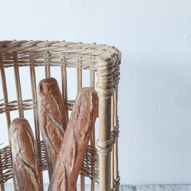 Vintage Baguette Basket