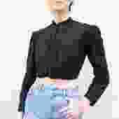 Viola Black Edwardian Blouse