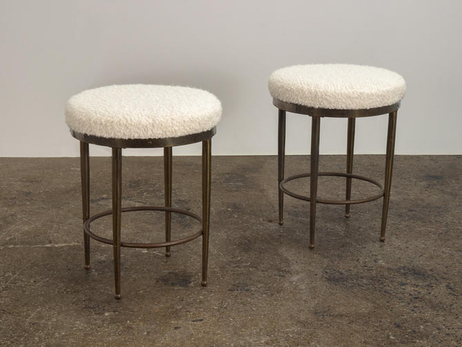 Pair of Mastercraft Style Stools by openairmodern