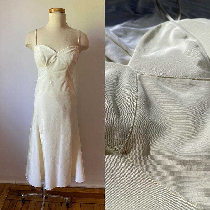 Ivory Nicole Miller Dress by DiscoLaundryVintage